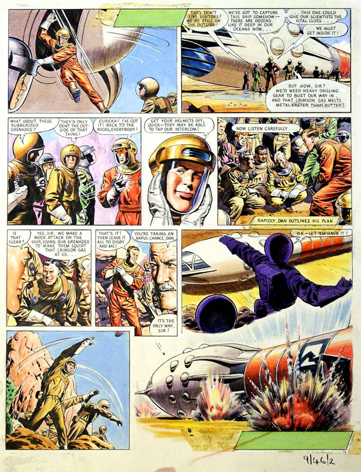 Dan Dare: The Phantom Fleet (Original) art by Frank Hampson at The Illustration Art Gallery