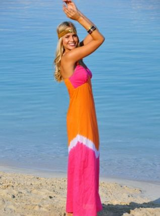 An orange and pink maxi dress - I've died and gone to heaven!