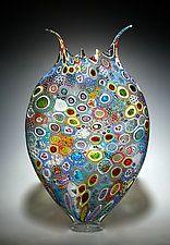 """Mezclado Murrini Foglio por David Patchen (arte de cristal del recipiente) (23 """"x 14"""")"""