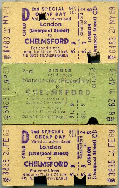 Edmundson British Rail Tickets