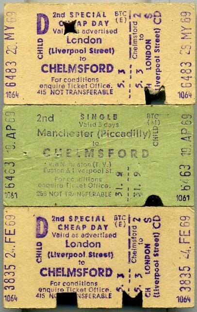 Edmundson British Rail Tickets,...