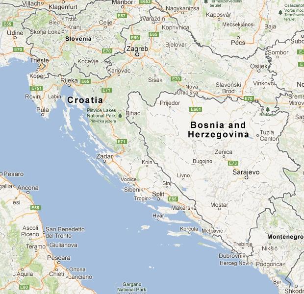 Visit Croatia - Map of Croatia