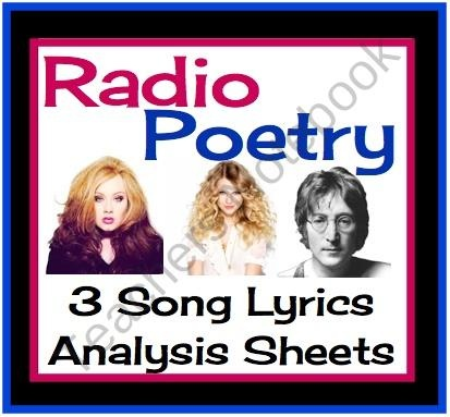 Radio Poetry: Introduction To Poetry With Music (Printable Worksheets) from Presto Plans on TeachersNotebook.com (6 pages) - Radio Poetry is a resource you can use to hook your students in any poetry unit. Included are three assignment sheets that ask students about songs they hear on the radio that might be considered poetry.