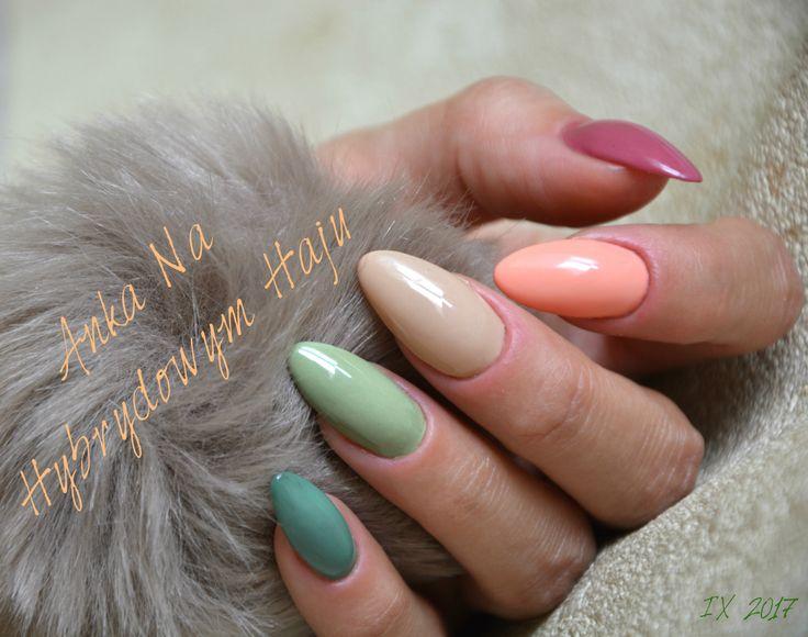 #paznokcie #manicure #hybrydy  #pazurki  #AnkaNaHybrydowymHaju #Nails #jesień #jesienne #autumn #autumnnails #jesiennepaznokcie #jesienneinspiracje #nude #nudziaki #zieleń #zgniłazieleń