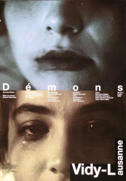 Démons - de Lars Norén - Vidy-Lausanne-Plakat by Werner Jeker