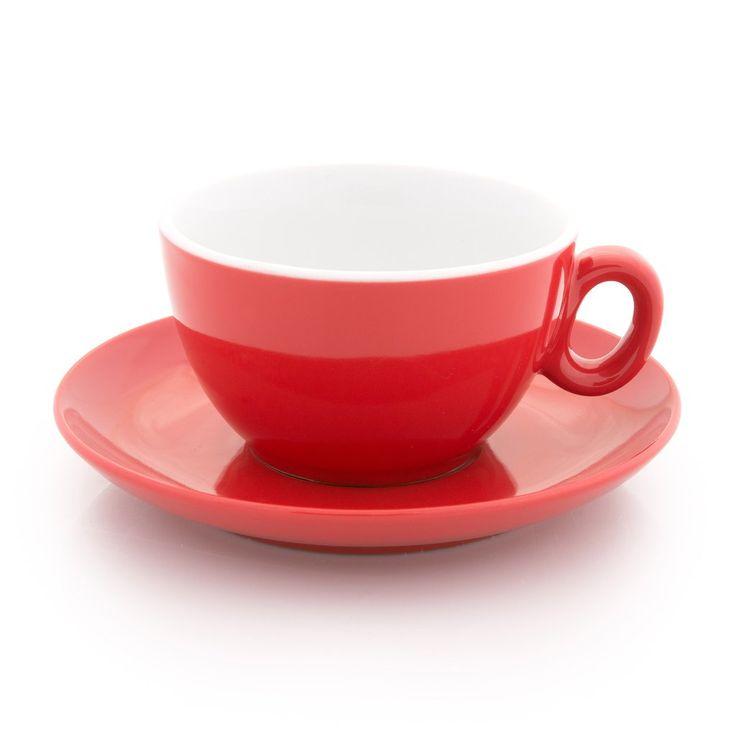 Inker red latte cup 9 oz demitasse