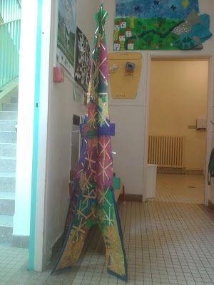 Maternelle Amiral Roussin Paris: Classe 2 - Tour Eiffel multicolore
