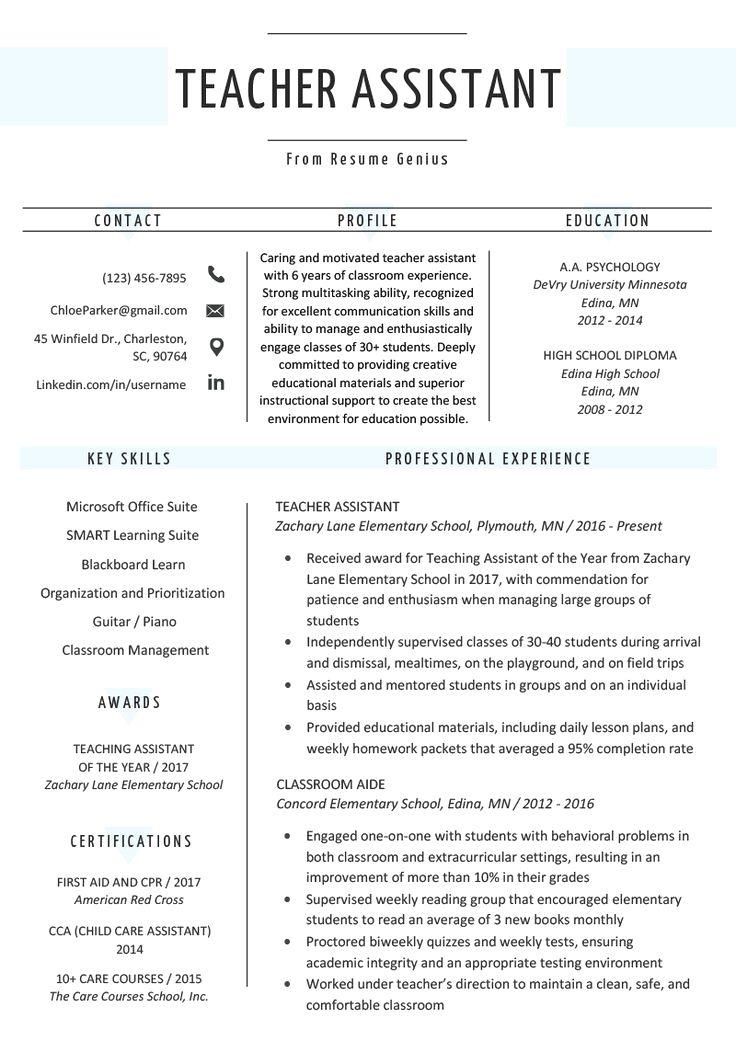 Professional Skills For Teacher Resume