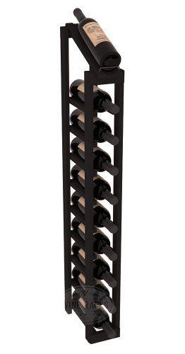 wine racks america redwood 1 column 10 row display top kit