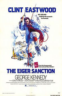 The Eiger Sanction is a 1975 American action thriller directed by and starring Clint Eastwood. Based on the novel The Eiger Sanction by Trevanian,[N 1] the film is about a classical art professor and collector who doubles as a professional assassin, and who is coerced out of retirement to avenge the murder of an old friend.
