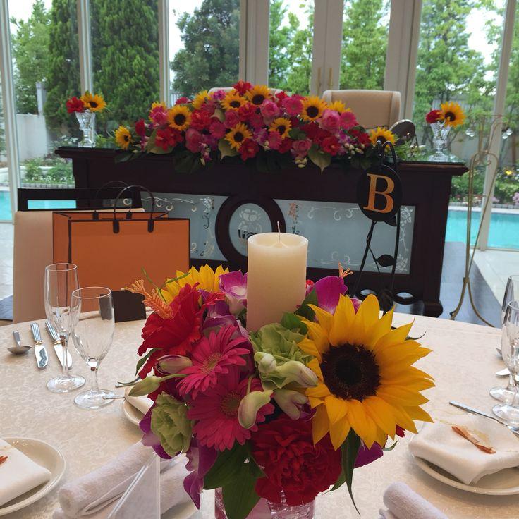 ハイビスカスで夏の結婚式