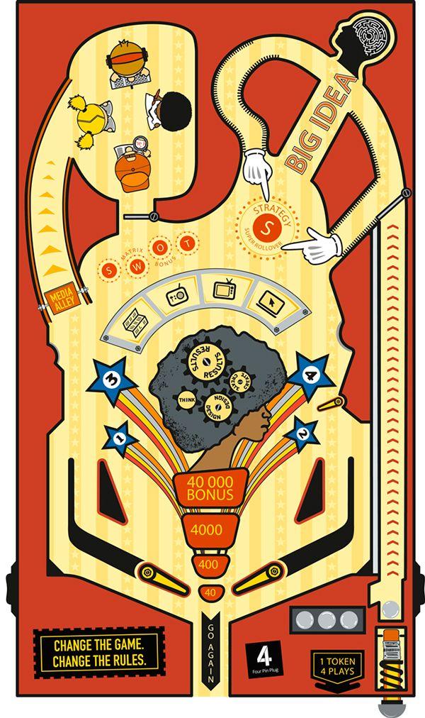 Pinball Table Illustration on Behance