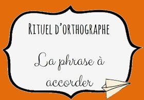 CM2 Orthographe : Rituel de phrases à accorder.