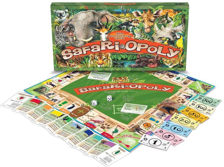 Het traditionele bekende vastgoed spel in een nieuw jasje. Met dit spel verzamel je bijvoorbeeld geen hotels, maar kattenbakken en als je naar de gevangenis moet dan ga je naar het asiel of je moet betalen als je vlooien hebt. Kortom een zeer humoristisch spel.  - Safari-Opoly