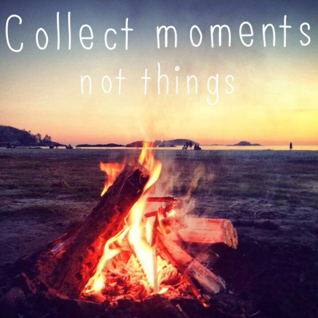 Collect Moments Not Things - Travel Quote - Miss Voyager blog // Summer // Bonfire // Beach // Sunset // Tofino // Canada