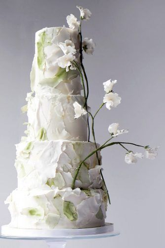 textured wedding cakes white green tall with abstract paper texture lilac cake boutique via instagram