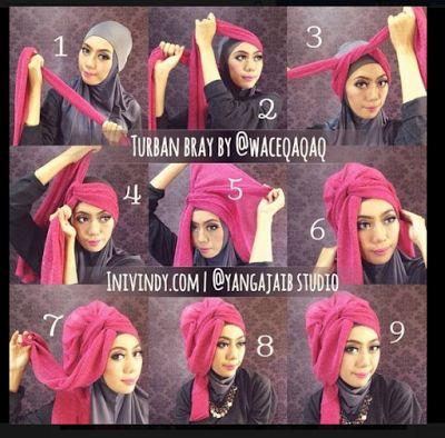 cara memakai hijab: Cara Memakai Jilbab Kreasi Modis Modern Cantik