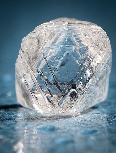 Clear Uncut Diamond Ring