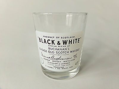 Buchanans Black and White Whisky Glass Tumbler