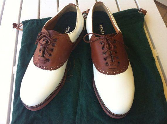 Scarpe da golf di polo Ralph Lauren by vecchiecose on Etsy