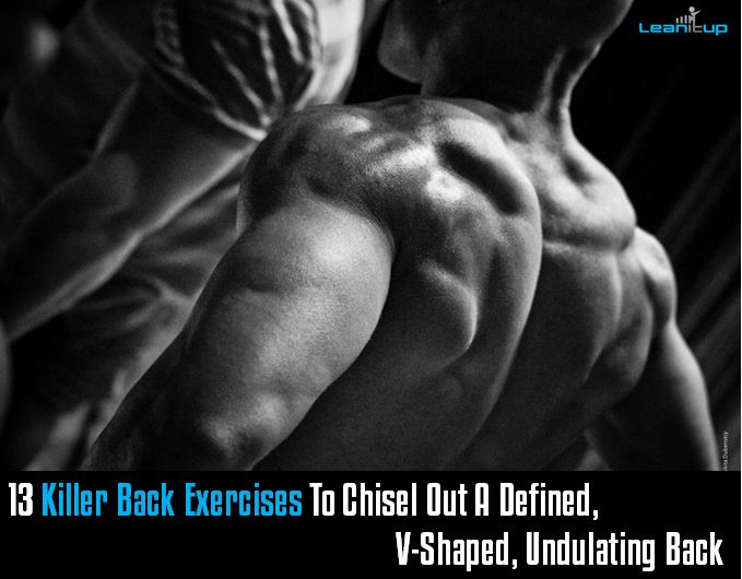 13 Killer Back Exercises To Chisel Out A Defined, V-Shaped, Undulating Back — Lean It UP Fitness