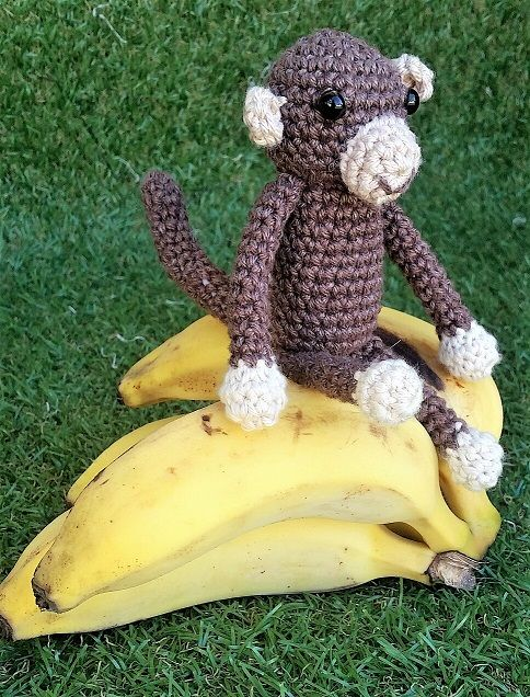 KaTerri Creations Monkey - Small Made with all new materials. Cotton blend yarn, plastic eyes and polyester toy filling. Height 16cm   Colour: Brown/Beige $20.00 each