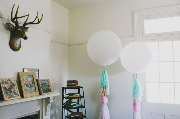 our beautiful jumbo balloons with our gorgeous balloon frills made exclusively for Born To Party by blush loves mint. Available to buy in our gorgeous shop. styling by ashdown & bee. Photography by Willow & Co