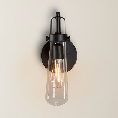 """Features:  -Shade type: Clear.  -Hardwired.  Product Type: -Armed Sconces.  Style (Old): -Contemporary/Industrial. Generic Specifications:  -UL classification: Damp. Dimensions:  -Extension: 5"""".  Over"""