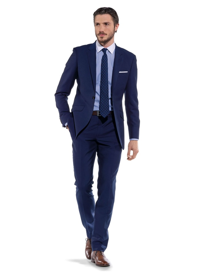 Ryan Slim-Fit 1-Button Blue Suit | T.M.Lewin Another great shade of