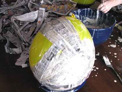 Paper Mache Dinosaur Eggs Part One | Wee Folk Art