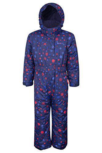 Mountain Warehouse Combinaison de ski enfant avec des nuages imprimés Bleu marine 2-3 ANS: La combinaison de ski Cloud pour enfants est une…