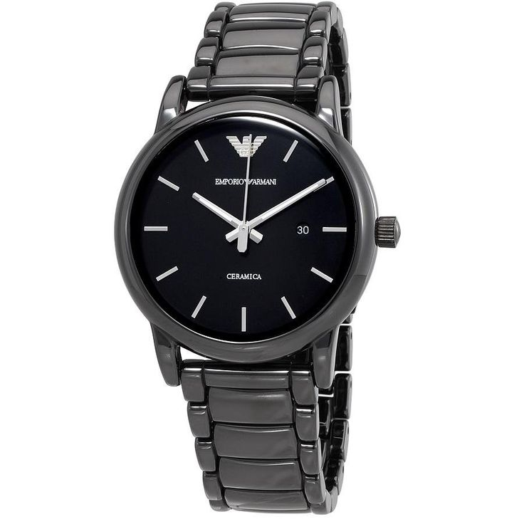 Emporio Armani Black Chronograph Men's Watch - Black (EM226544) | Emporium.com