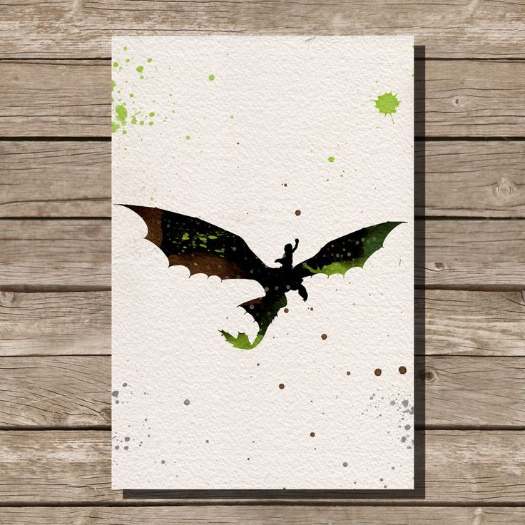 How to Train Your Dragon Hiccup and Toothless by ThunderDoam, $15.00
