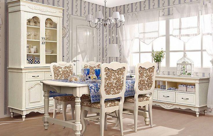 Гостиная «Франсуаза» от Wellige | Мебель для столовой и гостиной из массива дуба в стиле Прованс