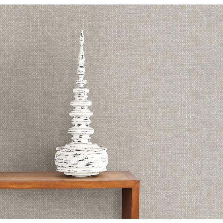 56 sq. ft. Hip Grey Texture Wallpaper