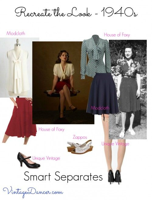 1940s fashion. Channel your inner Agent Carter with these smart separates