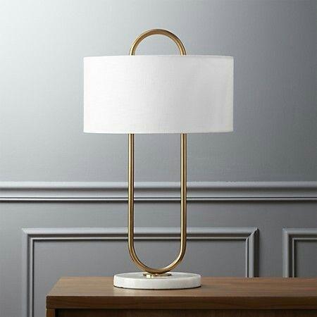 Warner table lamp CB2