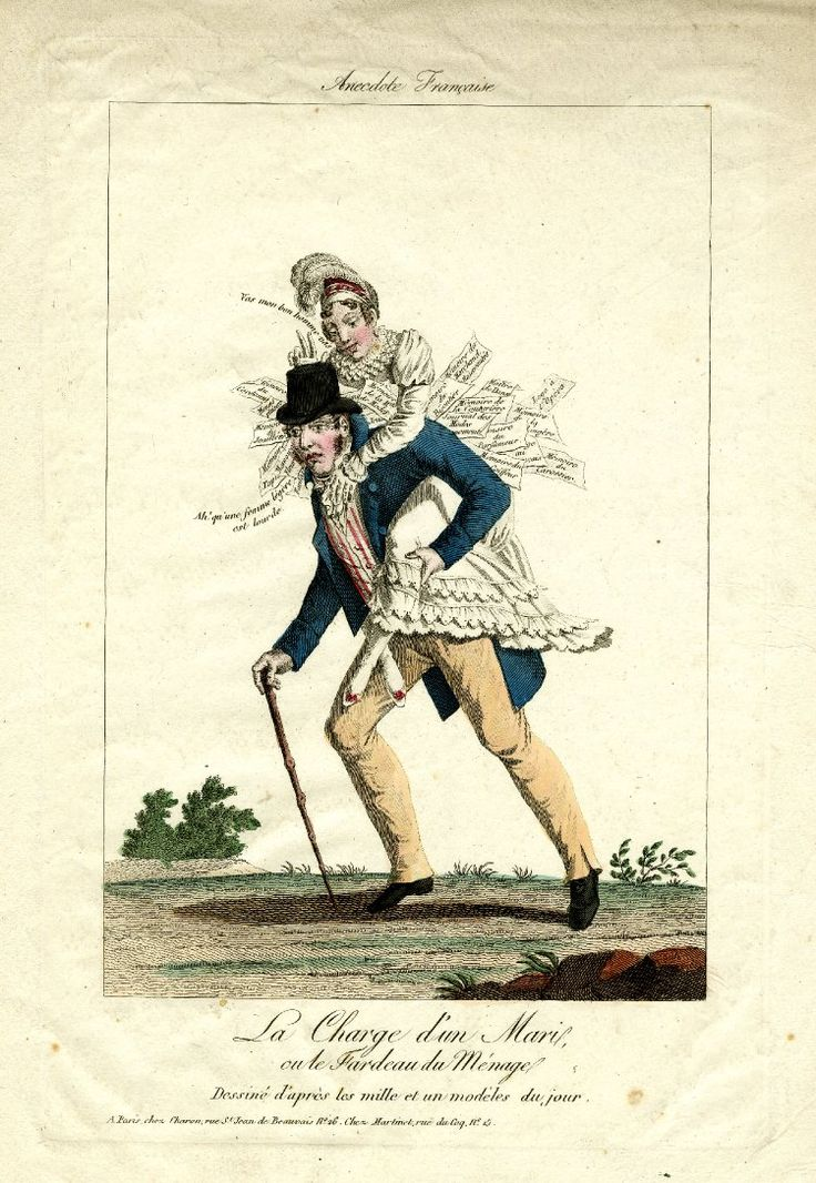 best ns regency edwardian satire images on a martinet anecdote francaise satire on marriage a husband staggers under the regency erafashion plates18th centurycommonplace bookgender