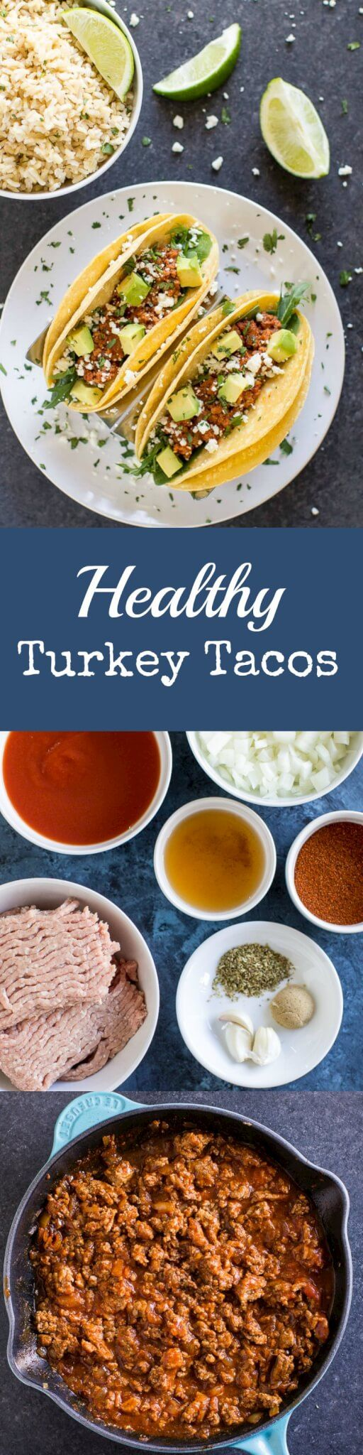 I make these healthy Turkey Tacos every single week! They are so delicious and flavorful, everyone loves them, and they're ready in 15 minutes.