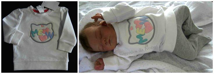 BE115 - Pintura em camisolinha de bebé