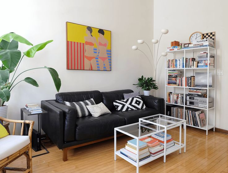 """""""Our furniture is from all over—family heirlooms, Craigslist and thrift store finds, IKEA basics, current pieces from West Elm—so our style is pretty diverse. It's generally Scandinavian inspired with modern and colorful updates."""""""