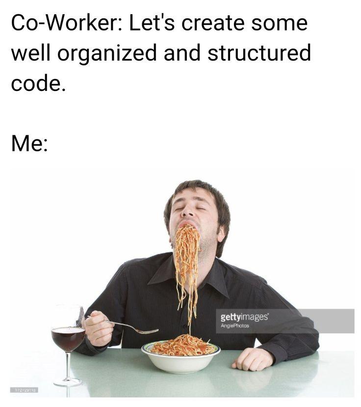 Spaghetti Code #programming #coding #software #developers #webdev #sysadmin #programmers #cs