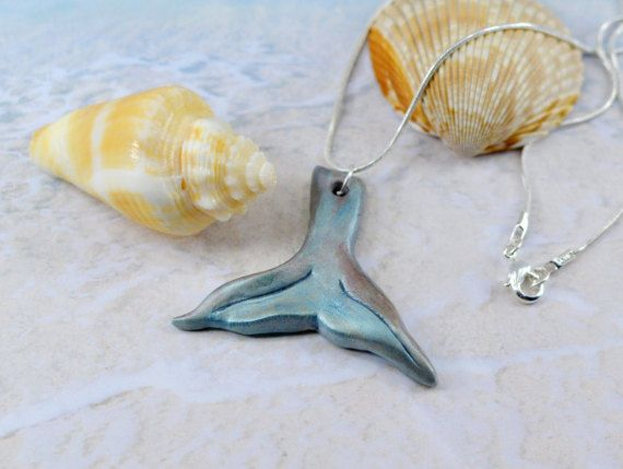 Mermaid tail necklace fish tail necklace by BeadyBellaCinderella