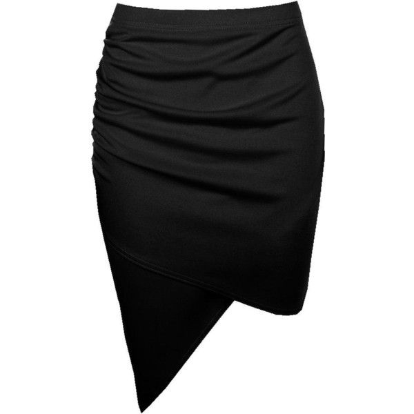 Boohoo Gracie Asymetric Rouched Side Mini Skirt ($14) ❤ liked on Polyvore featuring skirts, mini skirts, maxi skirt, mini maxi skirt, short pleated skirt, short maxi skirt and elastic waist skirt