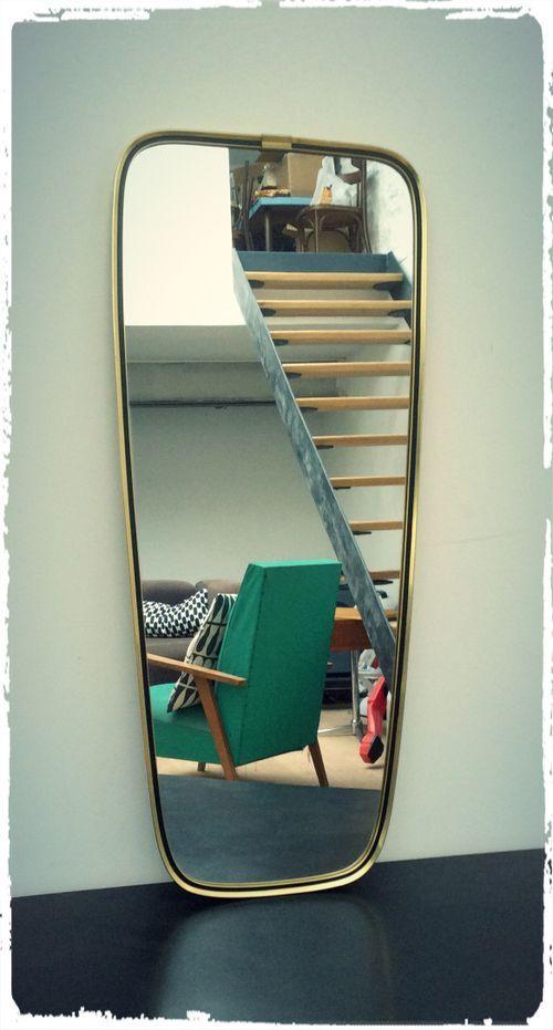 Grand Miroir Vintage Forme Libre Asymétrique Mrs 08