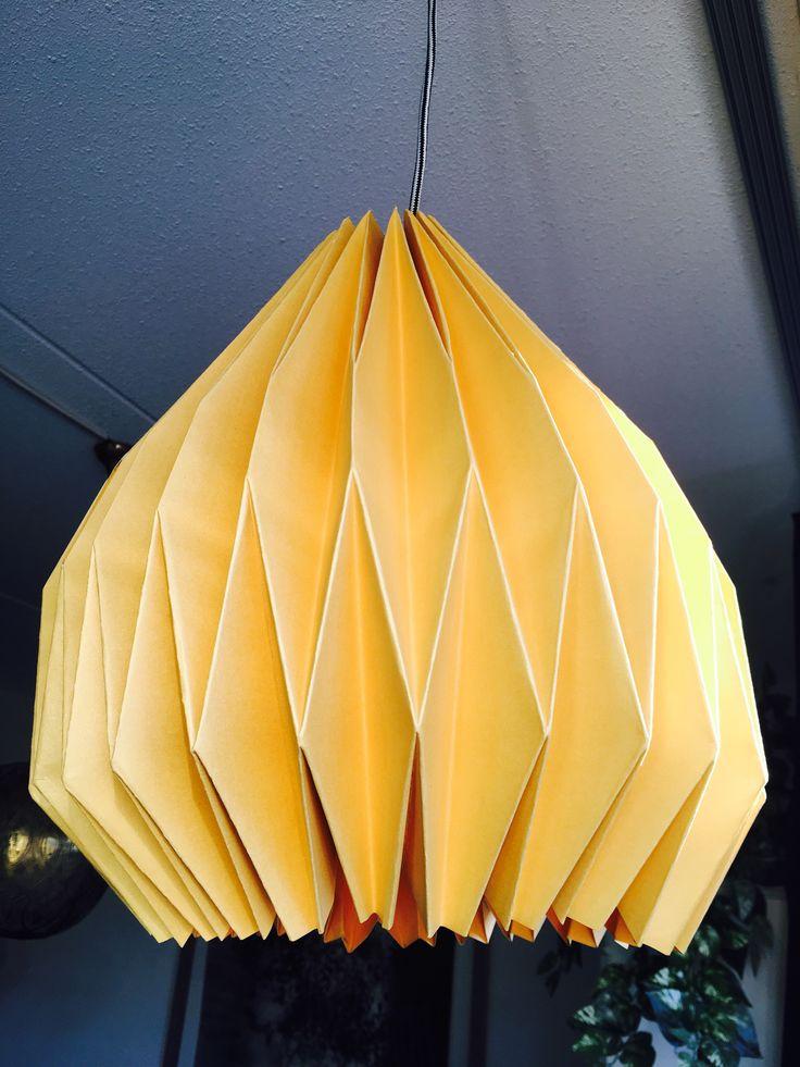 Origami carton lampshade