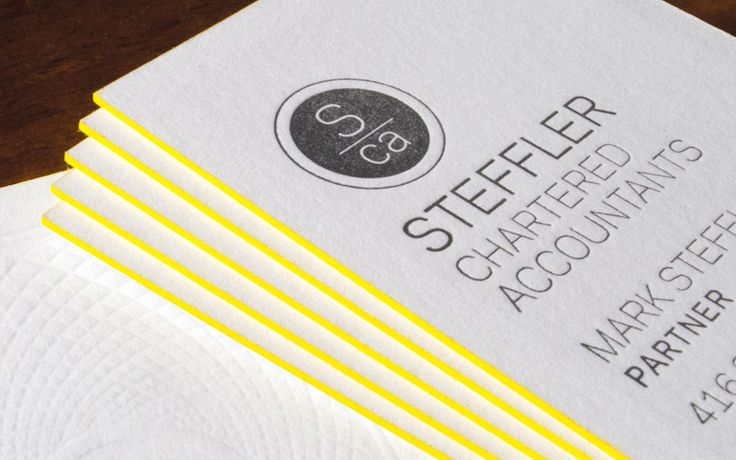 These high-end business cards are for a boutique accounting firm ...
