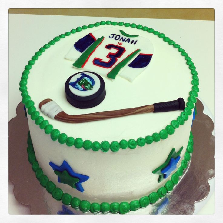 Denver Cutthroats Hockey Themed Cake.