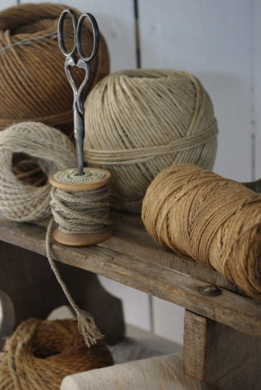 lots of lovely old string ♥