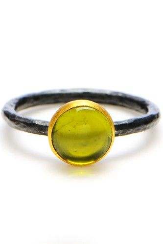 """Lika Behar Peridot """"Candy"""" Ring, $320, available at Greenwich Jewelers.  #refinery29 http://www.refinery29.com/47768#slide-7"""